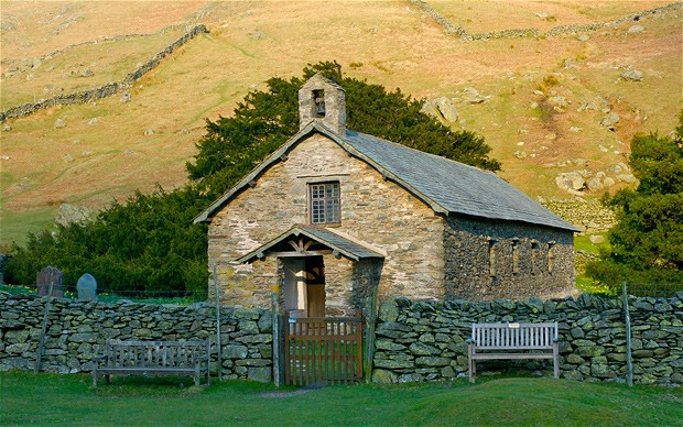 The old church of St Martin, Martindale, near Ullswater, Lake District National Park, Cumbria, UK. Image shot 2007. Exact date unknown.