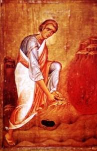 Mozes bij het brandend braambos