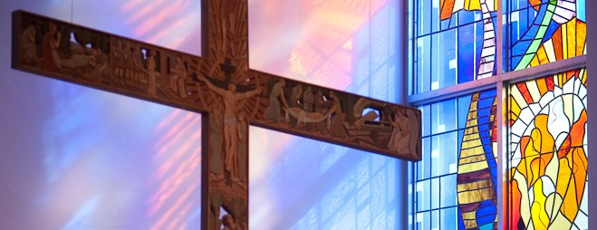 Christ Chapel Cross and Stained Glass