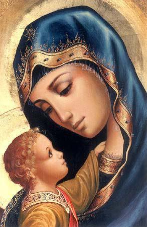 maria-en-jezus-icoon