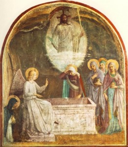 800px-Resurrection_of_Christ_and_Women_at_the_Tomb_by_Fra_Angelico_(San_Marco_cell_8)