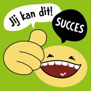 succeskaart-smiley-duim-omhoog
